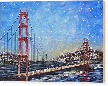 Golden Gate Bridge Wood Print by Amy Giacomelli