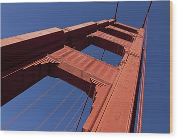 Golden Gate Bridge At An Angle Wood Print by Garry Gay