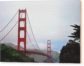 Golden Gate Bridge Full View Wood Print