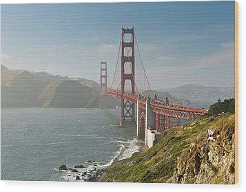 Golden Gate Bridge Wood Print by Ian Morrison