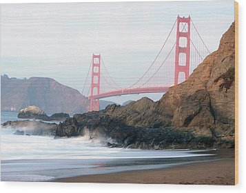 Golden Gate Bridge Wood Print