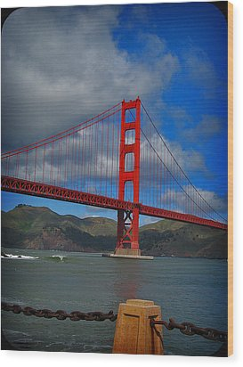 Golden Gate Bridge Wood Print by Kim Pascu