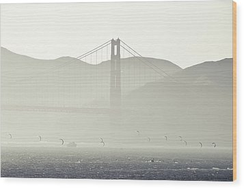 Golden Gate Bridge Wood Print by Paul Plaine