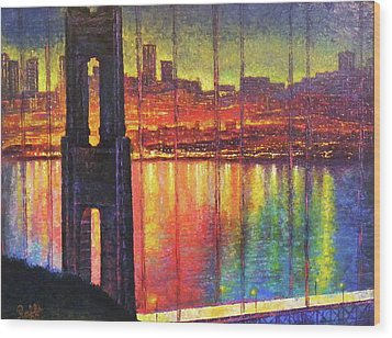 Golden Gate Bridge Wood Print by Raffi Jacobian