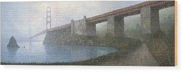 Golden Gate Bridge Wood Print by Steve Mitchell