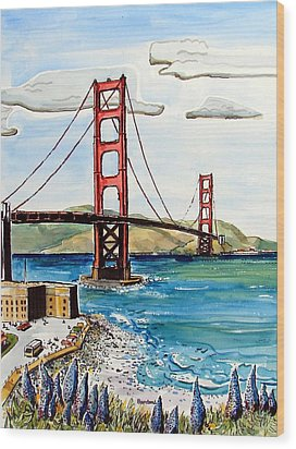 Golden Gate Bridge Wood Print by Terry Banderas