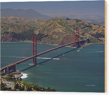 Golden Gate Wood Print by Donna Blackhall