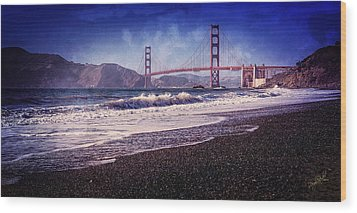 Golden Gate Wood Print by Everet Regal