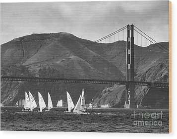 Golden Gate Seascape Wood Print by Scott Cameron