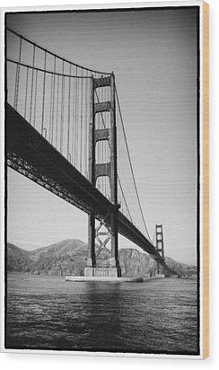 Golden Gate Wood Print by Tanya Harrison