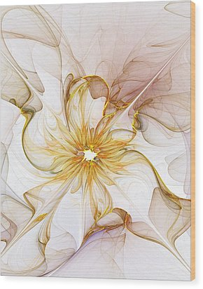 Golden Glow Wood Print by Amanda Moore
