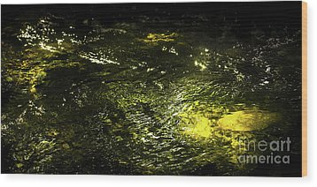 Wood Print featuring the photograph Golden Glow by Tatsuya Atarashi