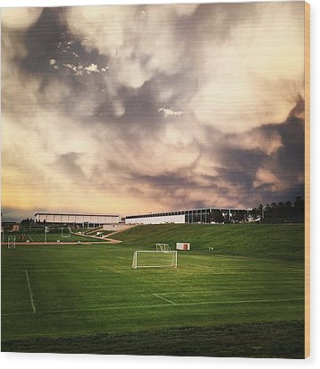 Golden Goal Wood Print by Christin Brodie