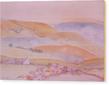 Golden Hills Wood Print