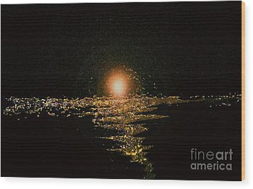 Golden Horizon Wood Print