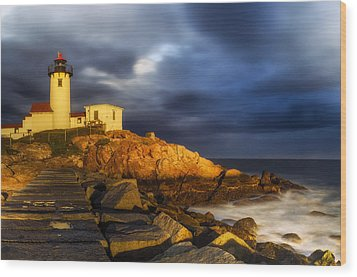 Golden Hour Wood Print by Mark Papke