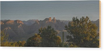 Wood Print featuring the photograph Golden Hour On Thimble Peak by Dan McManus