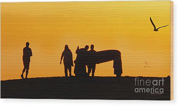 The Golden Hour Wood Print by Rhonda Strickland