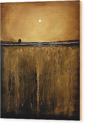 Golden Inspirations Wood Print by Toni Grote
