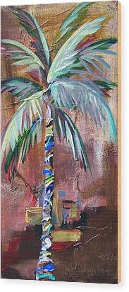 Golden Jasper Palm Wood Print by Kristen Abrahamson