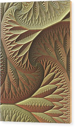 Wood Print featuring the digital art Golden by Lyle Hatch