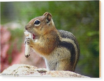 Wood Print featuring the photograph Golden-mantled Ground Squirrel by Perspective Imagery