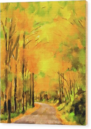Wood Print featuring the painting Golden Miles - Ode To Appalachia by Mark Tisdale