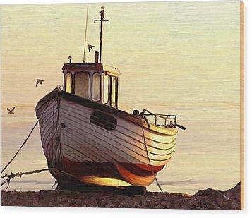 Golden Moment Wood Print by James Shepherd