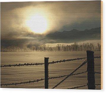 Golden Morning Wood Print by DeeLon Merritt
