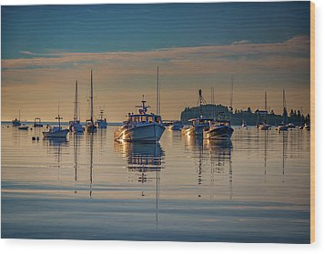 Wood Print featuring the photograph Golden Morning In Tenants Harbor by Rick Berk