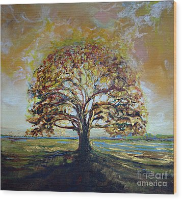 Golden Oak Wood Print by Michele Hollister - for Nancy Asbell