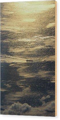 Golden Ocean Wood Print
