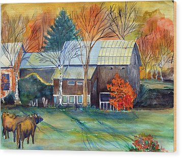 Golden Ohio Wood Print by Mindy Newman
