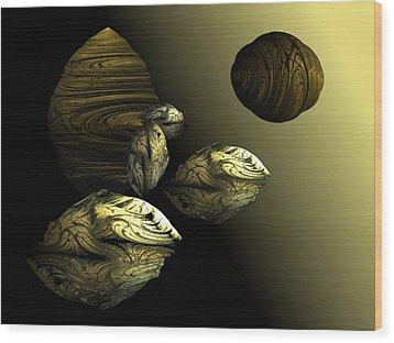 Golden Planet Wood Print by Ricky Kendall
