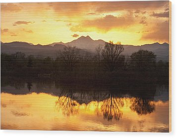 Golden Ponds Longmont Colorado Wood Print