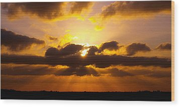 Golden Ray Sunset Wood Print by James Granberry