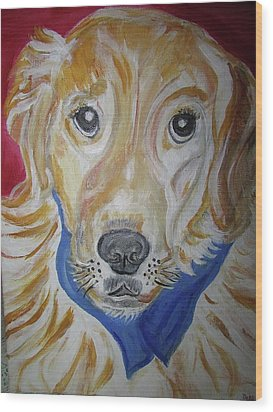 Golden Retriever Wood Print