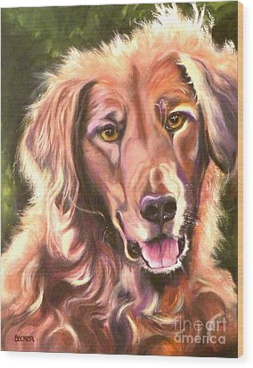 Golden Retriever More Than You Know Wood Print by Susan A Becker