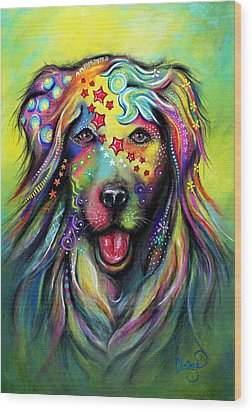 Golden Retriever Wood Print by Patricia Lintner