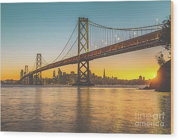 Golden San Francisco Wood Print by JR Photography
