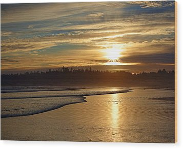 Long Beach, British Columbia Wood Print by Heather Vopni