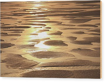 Wood Print featuring the photograph Golden Sands by Roupen  Baker