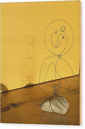 Golden Shadow Wood Print by Live Wire Spirit