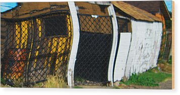 Golden Shed Wood Print by Lenore Senior