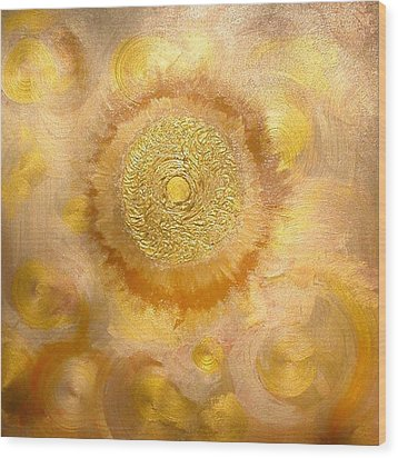 Golden-sun Wood Print by Ramon Labusch