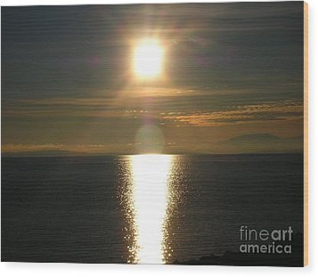 Wood Print featuring the photograph Golden Sunset by Kim Prowse