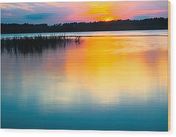 Golden Sunset Wood Print by Parker Cunningham