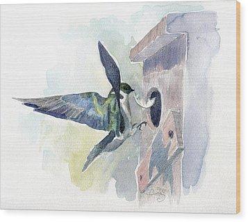 Golden Swallow Wood Print