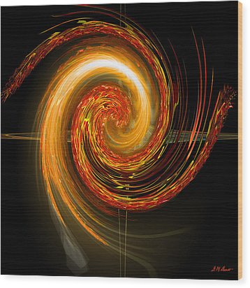 Golden Swirl Wood Print by Michael Durst