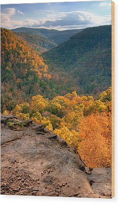 Golden Valleys Wood Print by Ryan Heffron